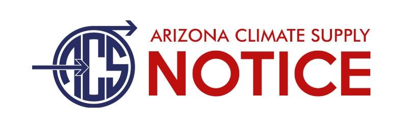 Arizona Climate Supply Notice